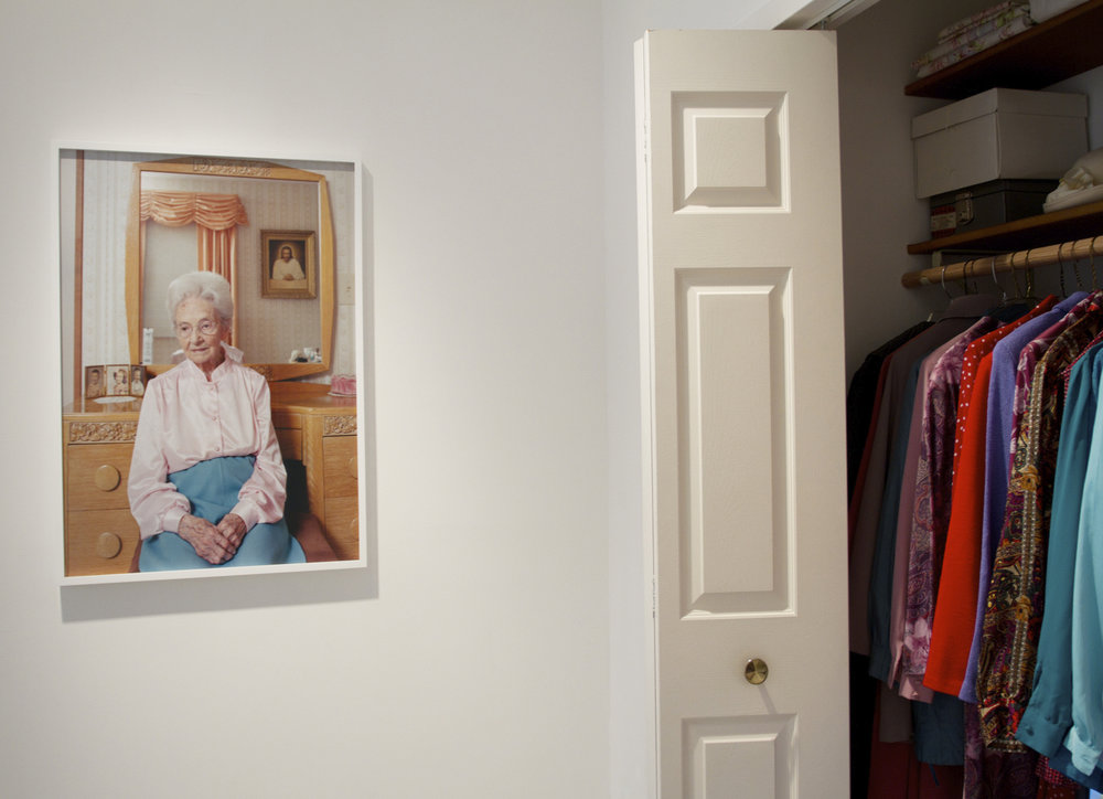 Grandmother's Closet Installation (with sound and scent), Storytelling Exhibition at Andrea Meislin Gallery, 2013