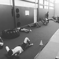 Athletes putting in Core work