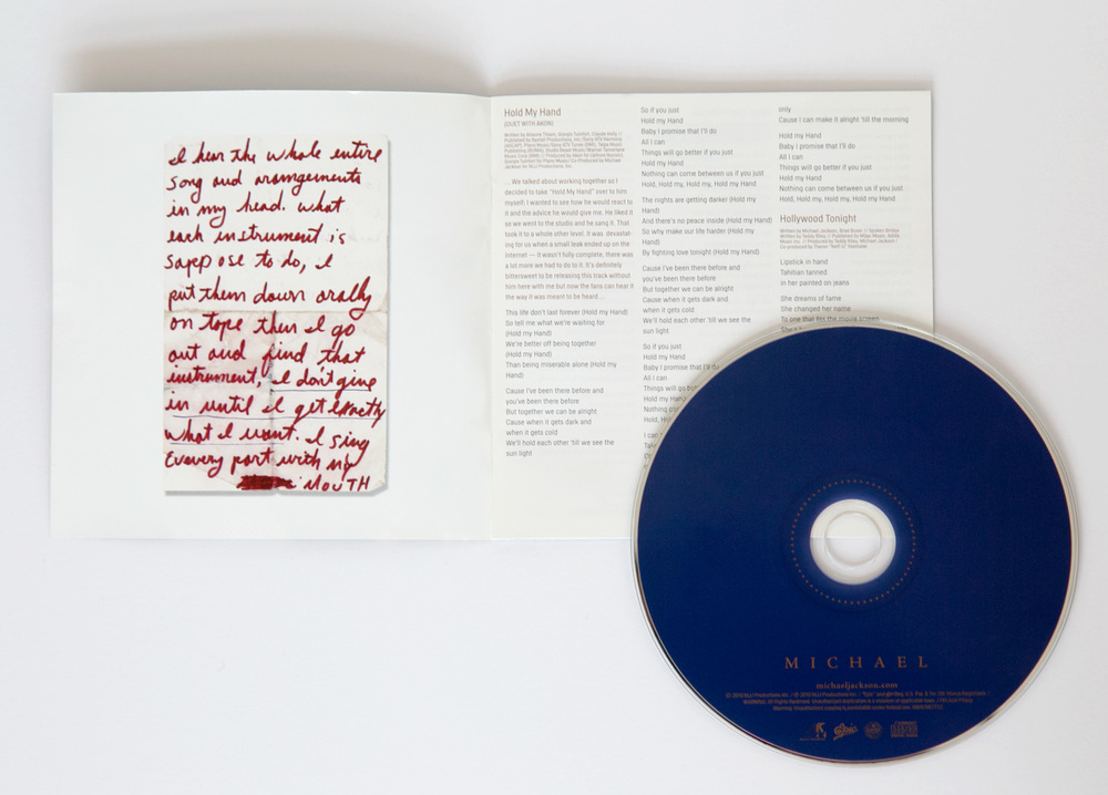 Booklet inside spread and CD label