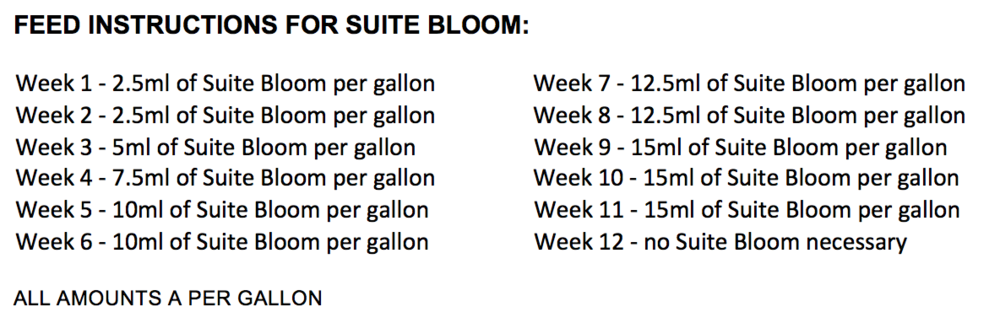 Suite Bloom feed Chart