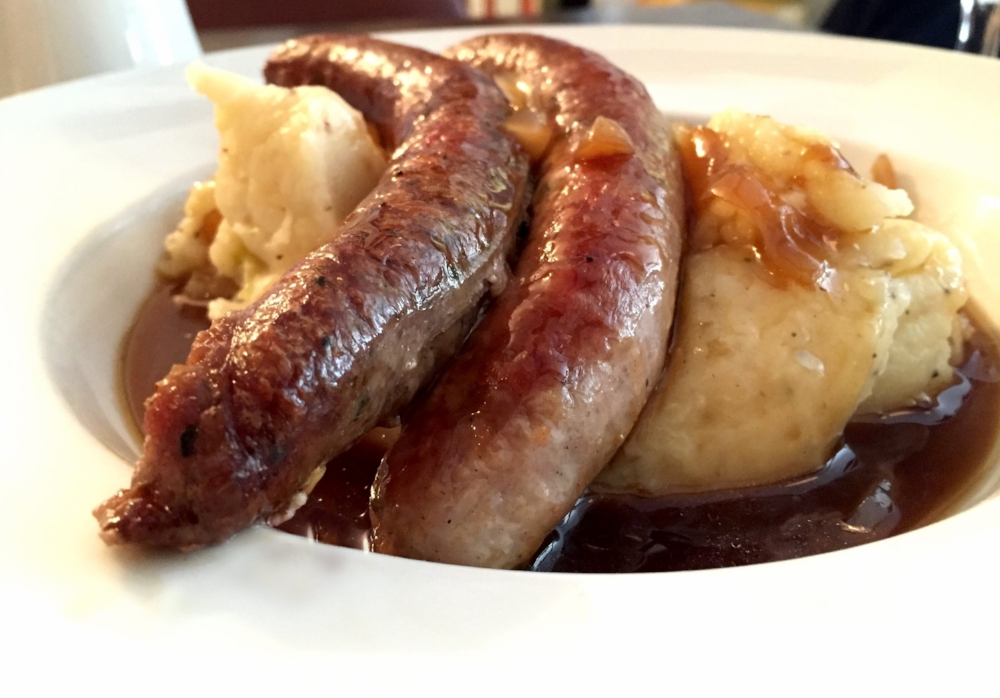 Bangers & mash from Mumz in Edinburgh