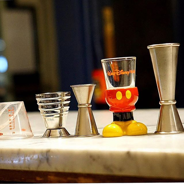 The tools to make your perfect cocktails.  #Repost @bootleggregcocktails ・・・ Measuring everything #mickeymouse #jigger #measurements #anchorspa #theanchorspa #mixologist #newhaven #nhv #ctdrinks #cocktaillounge #vibe #sexy #nightlife