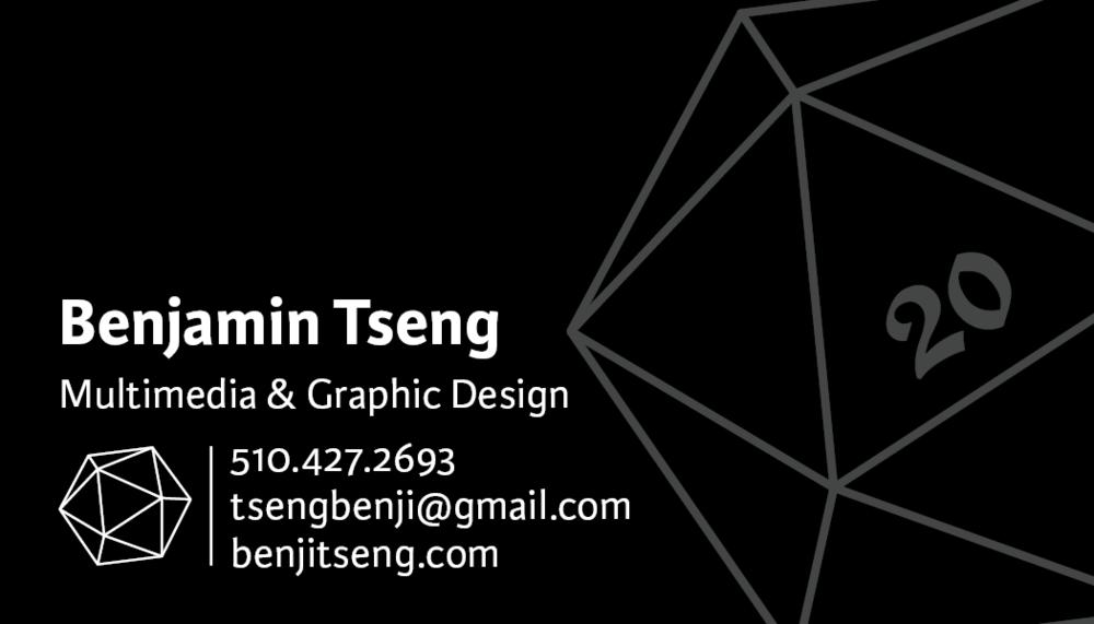 Business Cards — Benjamin Tseng