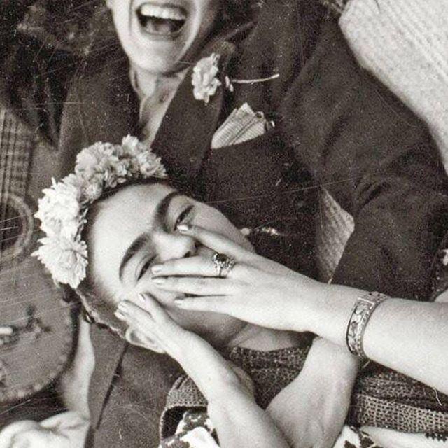 """""""Nothing is worth more than laughter.""""⠀ –Frida Kahlo⠀  Viva la vida⠀ ⠀ #sustainablefashion #slowfashion #thatsdarling #flashesofdelight #ethicalfashion #ecofashion #sustainable #greenlife #ecobabes #pursuepretty #shopsmall⠀"""
