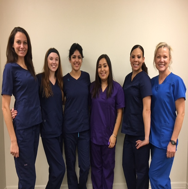 From left to right: Cristy Beaver, Eryn Anderson, Tracy Araiza, Diana Maldonado, Natalie Taylor, and instructor Rita Wittenburg.