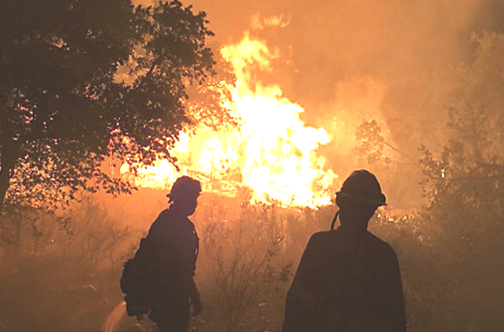 Firefighters at the Burnet County 108 fire