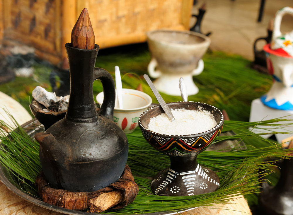 An Ethiopian Coffee Ceremony (Adobe Stock)