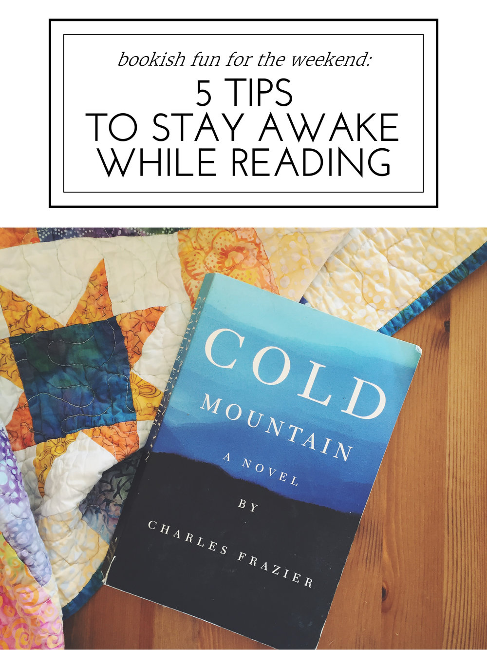 Blessed Bookworm - 5 Tips to Stay Awake While Reading