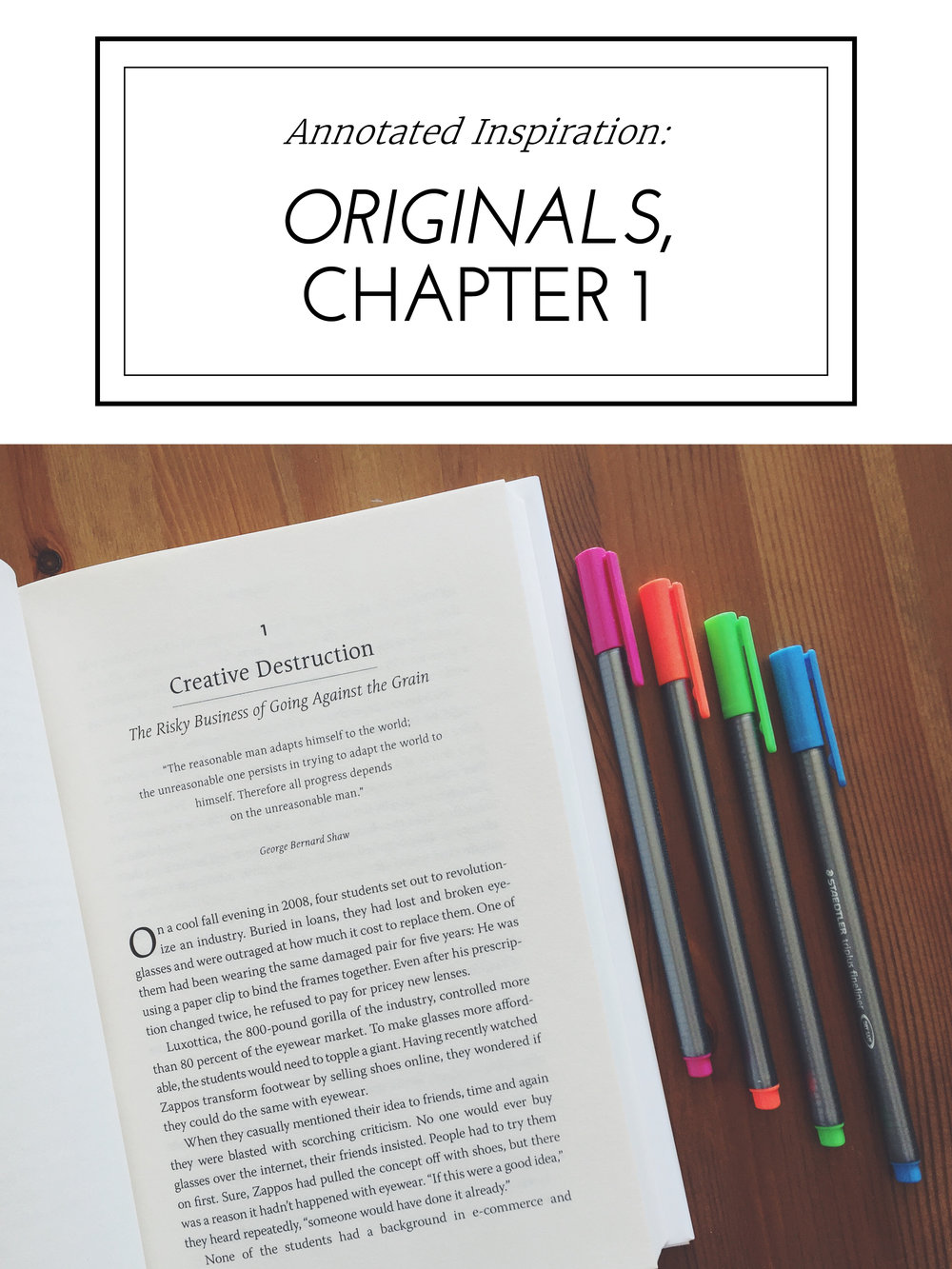 Annotated Inspiration: Adam Grant's Originals, Chapter 1
