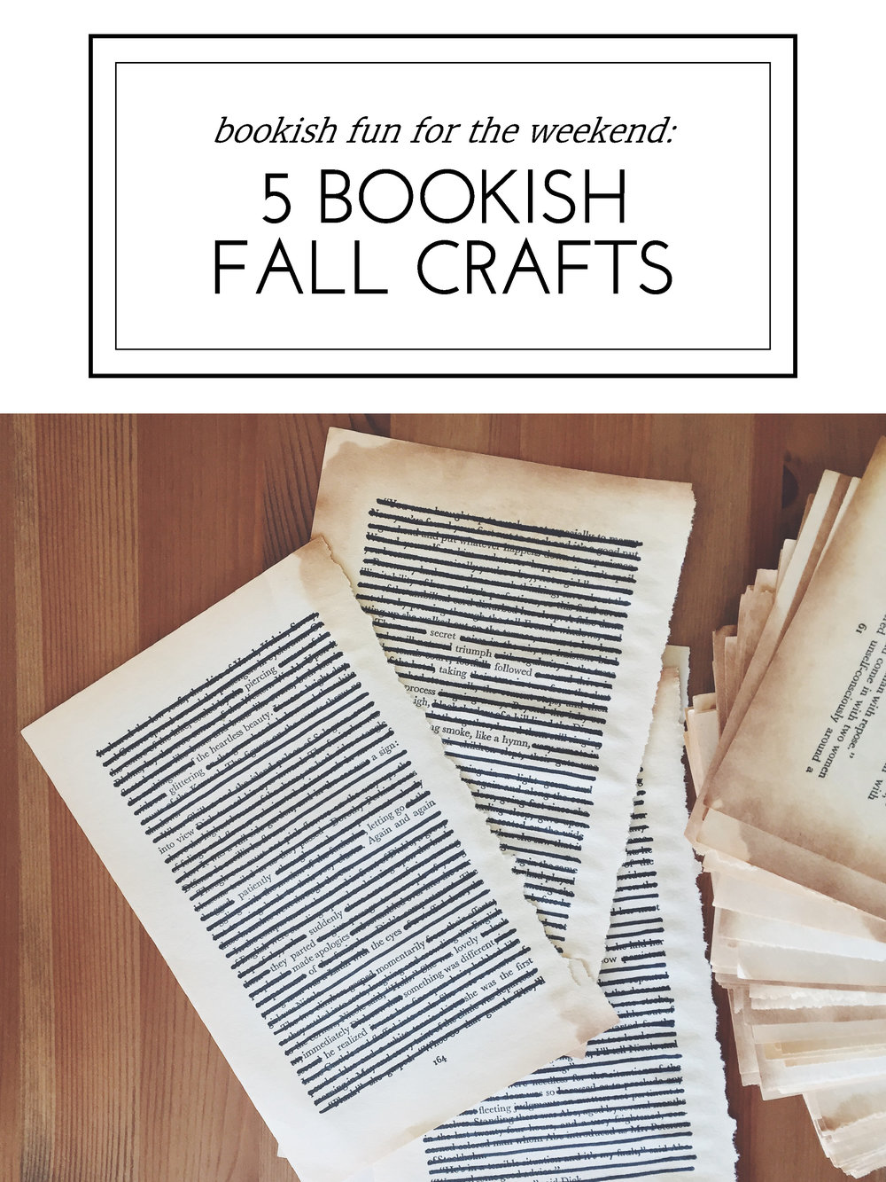 Blessed Bookworm's Bookish Fun for the Weekend: 5 Bookish Fall Crafts