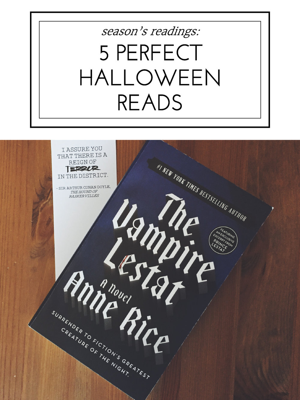 Blessed Bookworm Season's Readings: 5 Perfect Halloween Reads