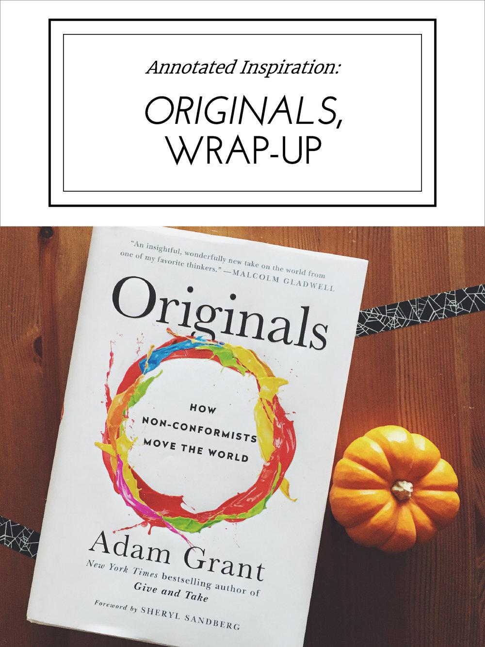 Annotated Inspiration: Originals Wrap-Up