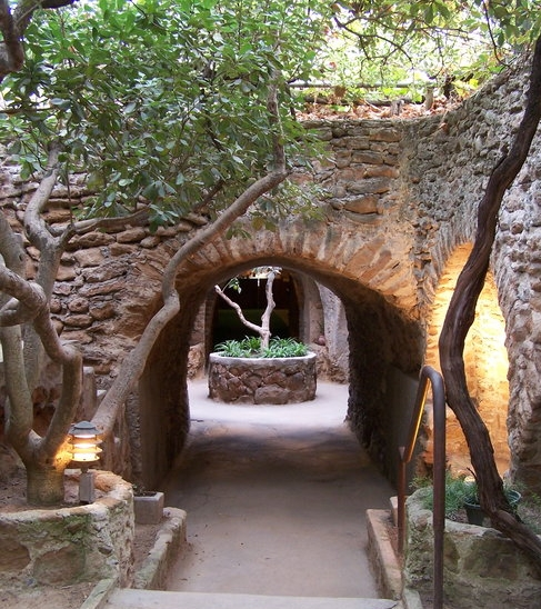 The main entrance to the Forestiere Underground Gardens.