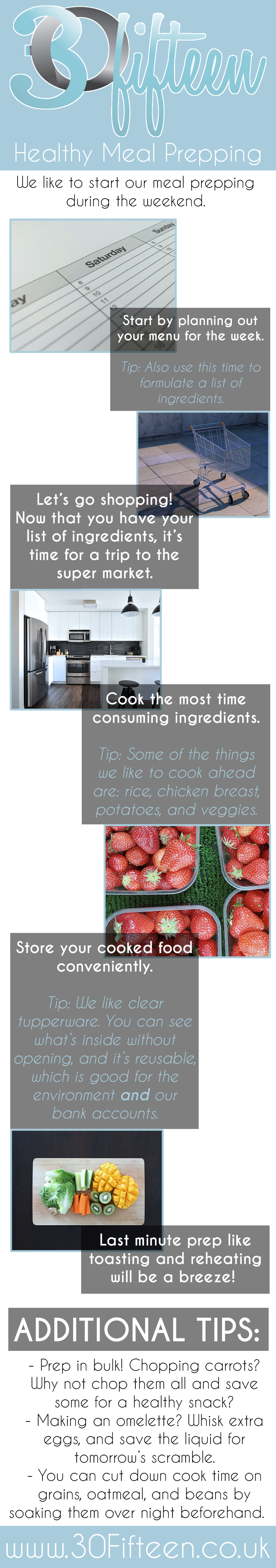 Meal prepping infographic 30Fifteen