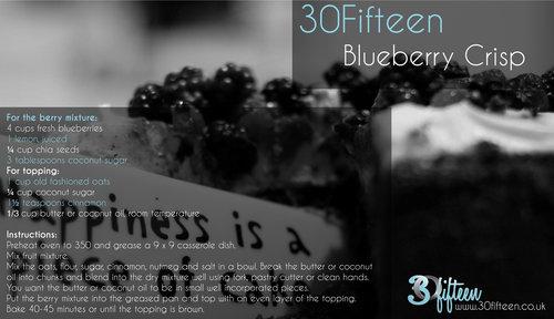 Blueberry crisp recipe 30Fifteen
