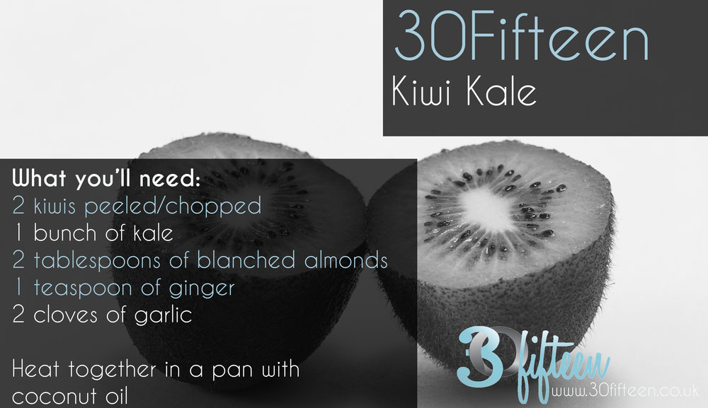 30Fifteen Kiwi Kale recipe