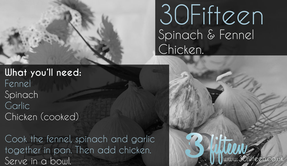 30Fifteen Spinach Fennel Chicken recipe