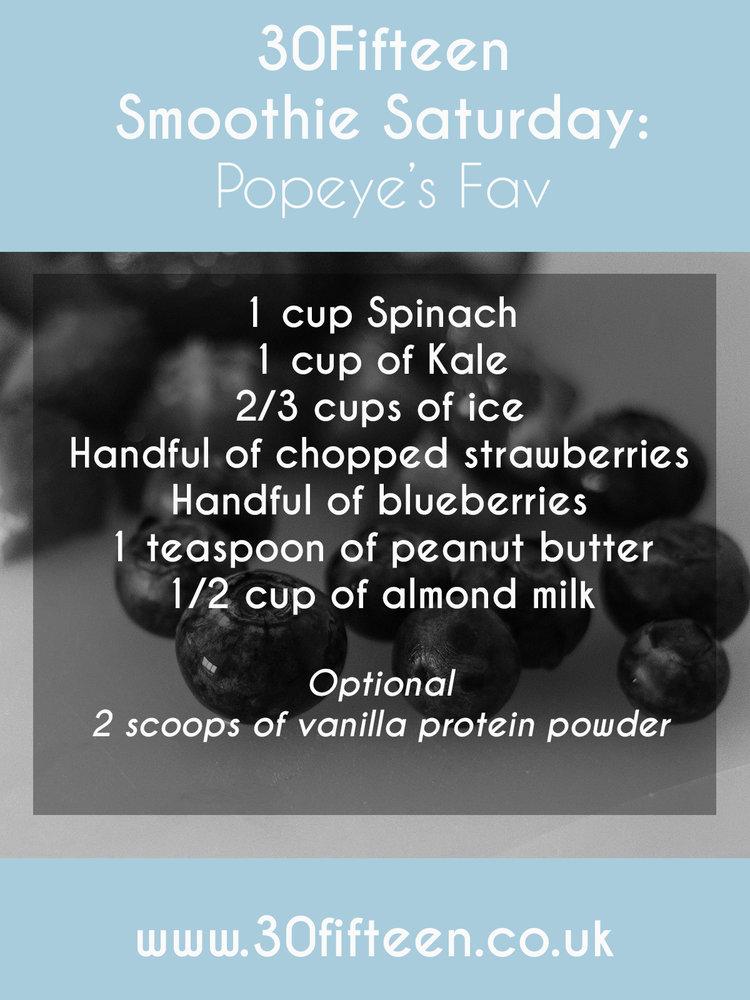 30Fifteen smoothie recipe