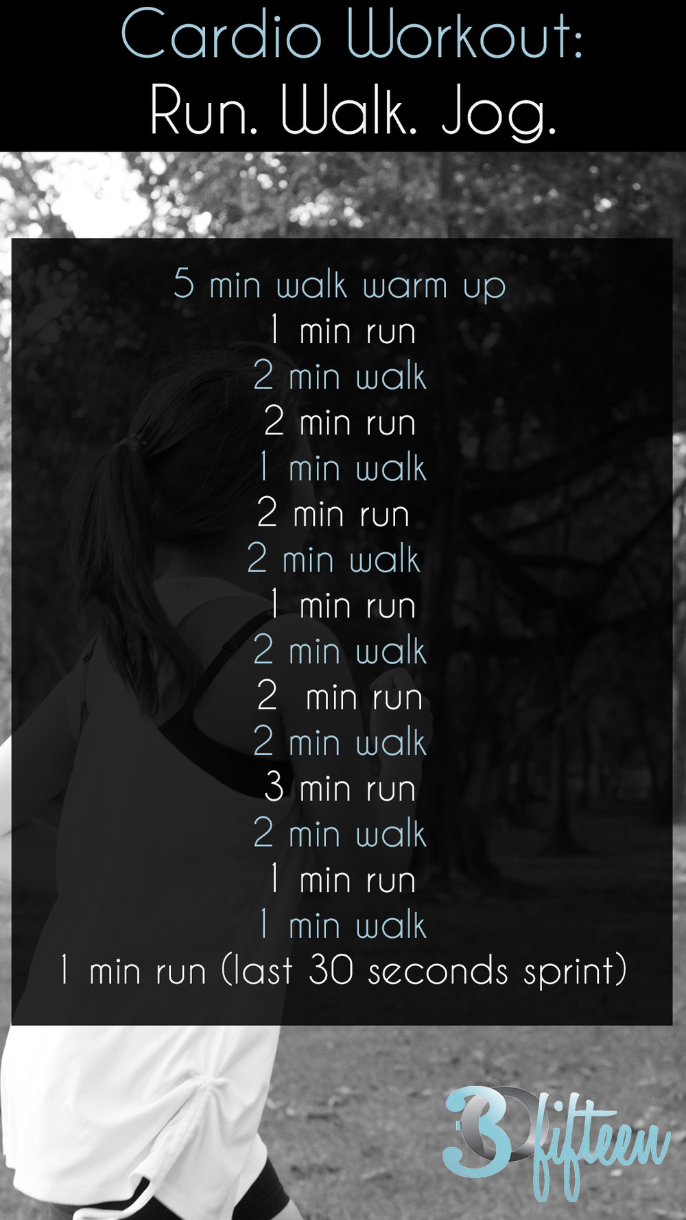 Run Walk Jog cardio workout