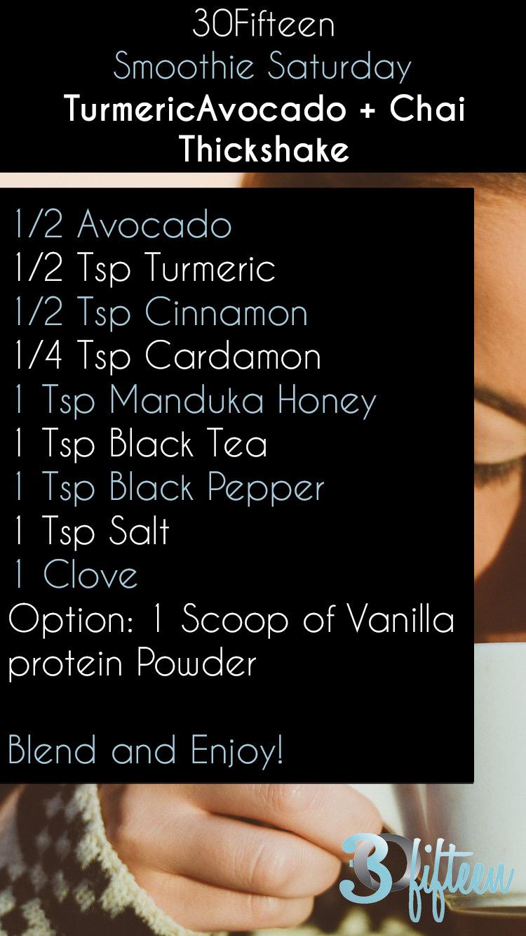 Turmeric avocado smoothie recipe