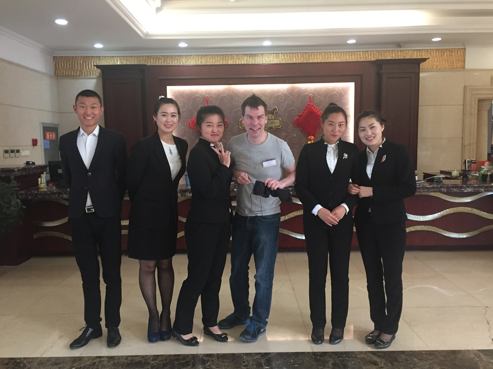 Knitting with Chinese Hotel Receptionists