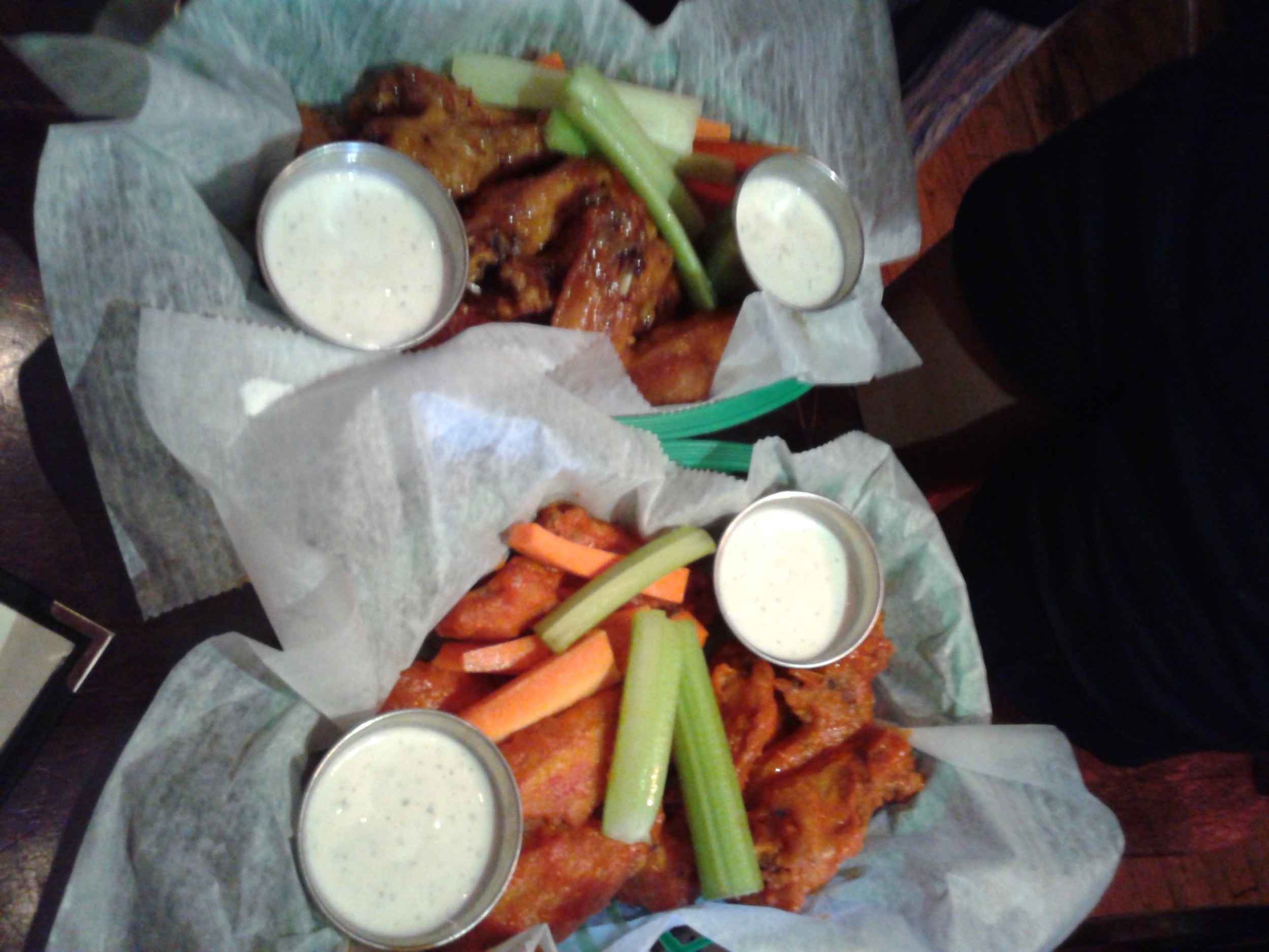Teriyaki Wings on left & Buffalo Wings on right!