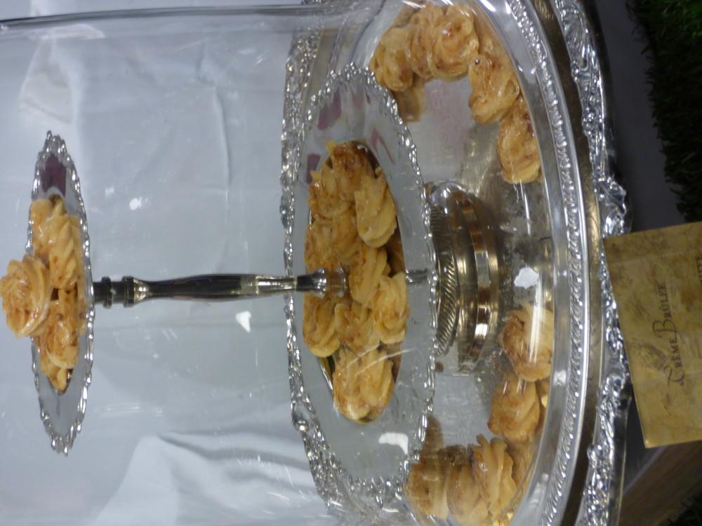 Adam S. Turoni's creme brulee bites made with white chocolate.
