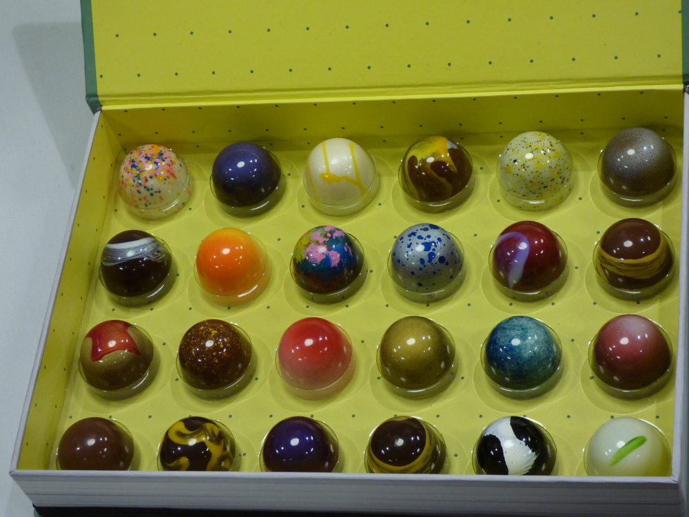 A shiny box of glorious Stick With Me bonbons.