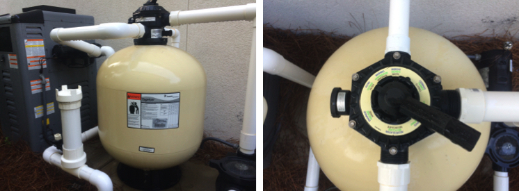 Sand Filter - Cloudy Water, Backwashing