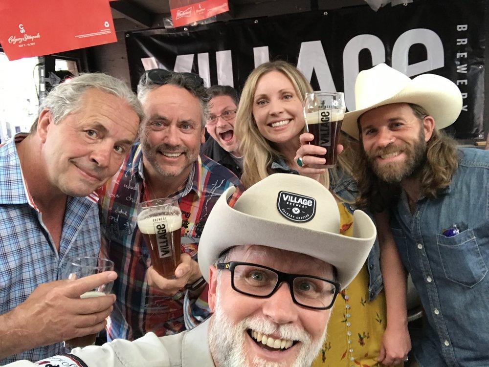 Bret 'The Hitman' Hart, Brett Wilson, Tom Stuart, Christy Farrell and Fraser Tuff