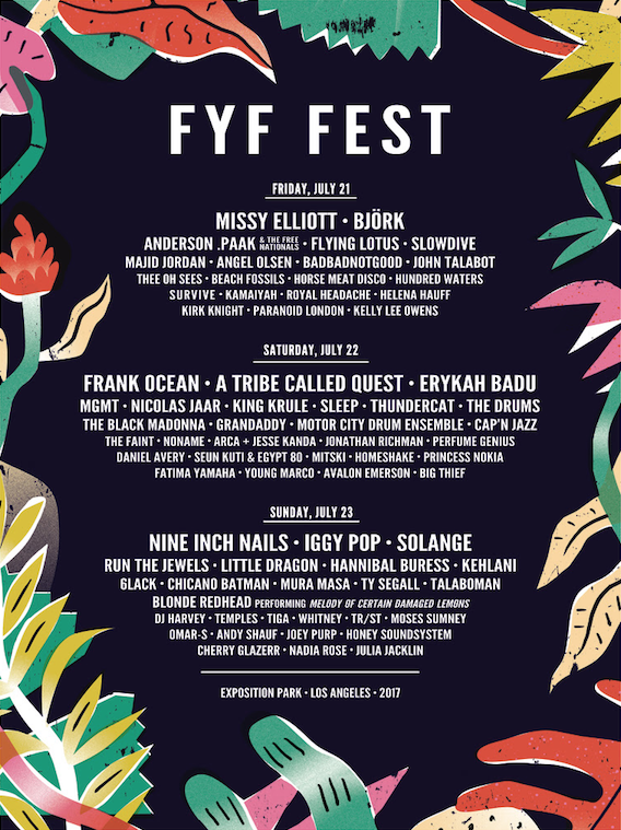 Fyf Fest Reveals 2017 Daily Lineups Adds More Bands Single Day