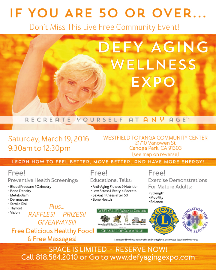 DEFY AGING WELLNESS EXPO FLYER (front)