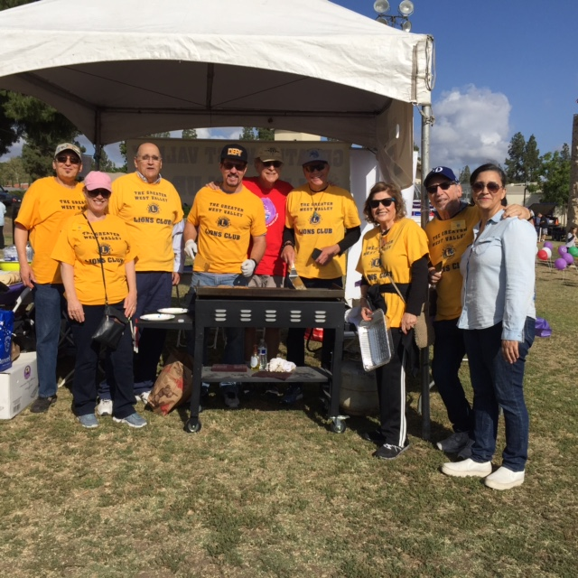 Lion's club at the Relay for Life