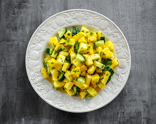 Pineapple and Cucumber Salad....YUM