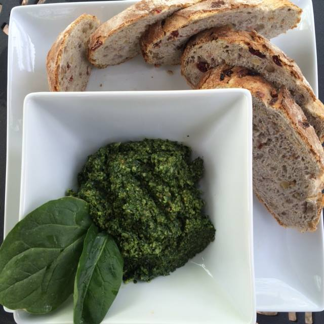 Cilantro- Walnut Pesto Spread