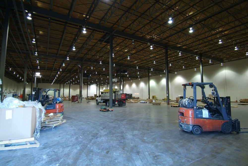 Warehouse space in the Niles Distribution Center.