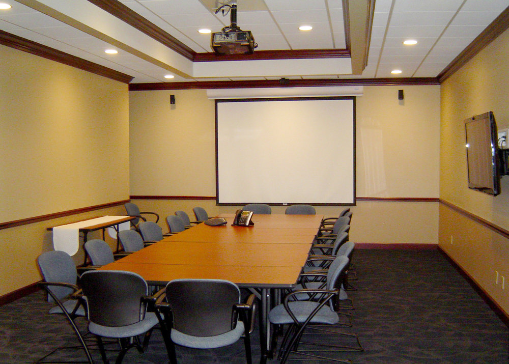 One of two conference rooms at the Lexington Business Centre in downtown Elkhart.