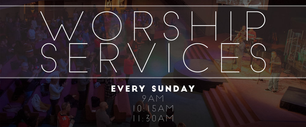 STARTING OCTOBER 23rd, NEW SERVICE TIMES 9AM & 10:45AM