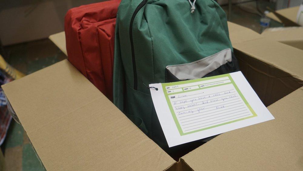 bookbag drive '18 tags on bookbags.JPG