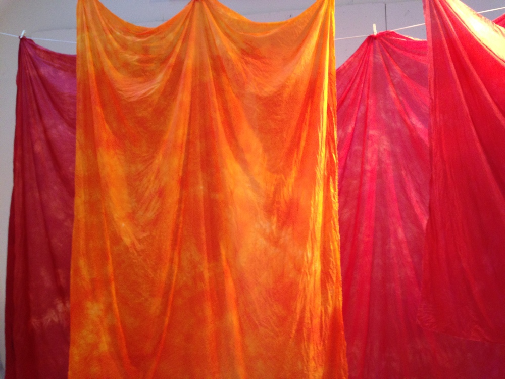 red silks drying.JPG