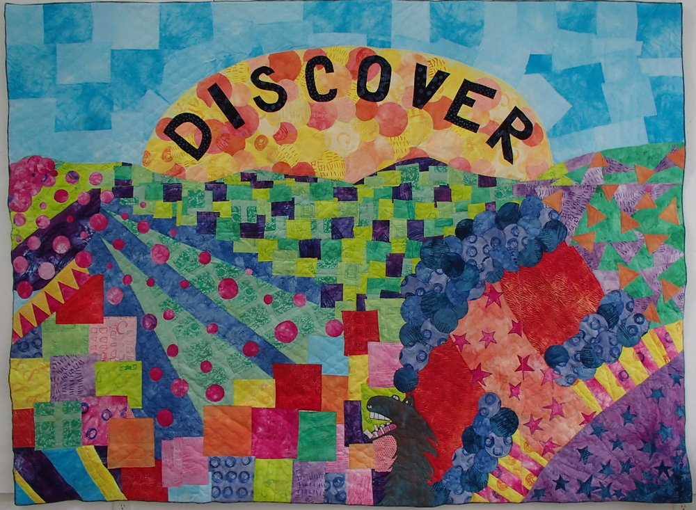 Discover, created with Elon University art students, for Madison E., GSO, NC,  2016.