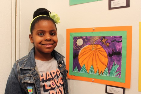 Lamina, a 2nd grader, likes to think about art and come up with ideas for pieces and actually create them!