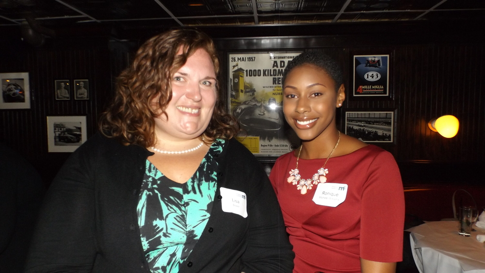 Mentor Lisa from Crosroads for Kids with her mentee, Ronique Williams, winner of the first ALKU Scholarship.