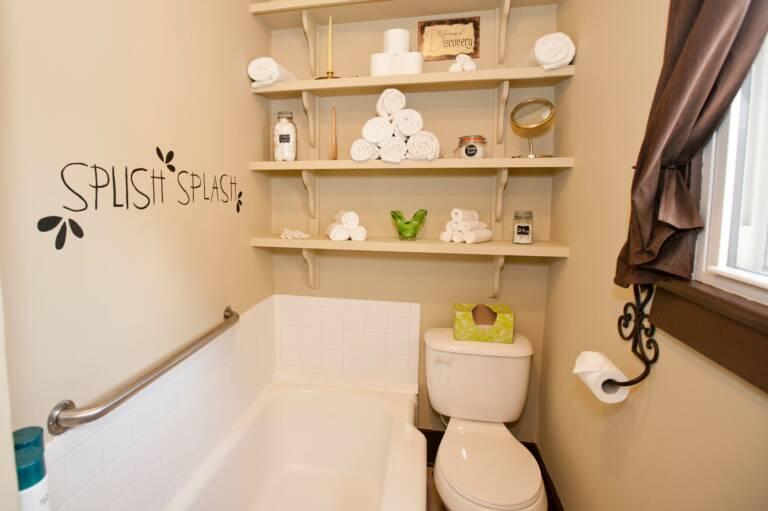 Smaller bathroom in Trudy Suite