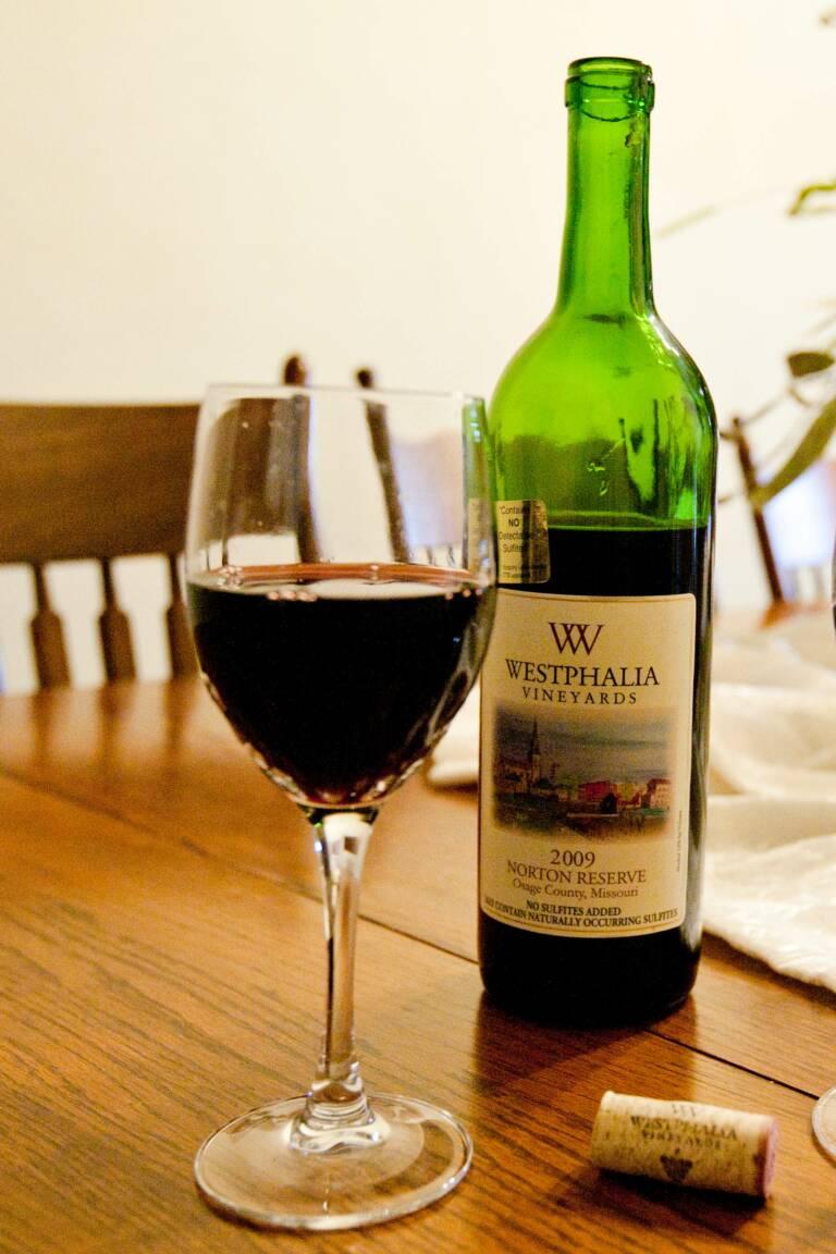 Wine from Westphalia Vineyards