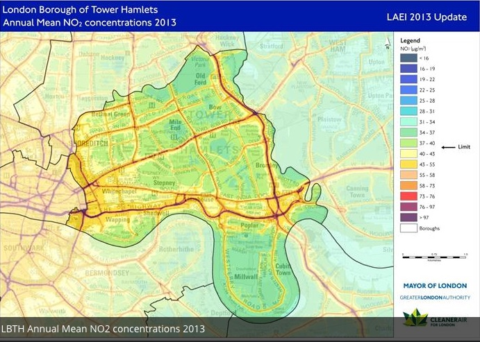 Air quality in Tower Hamlets is amongst the worst in the country -