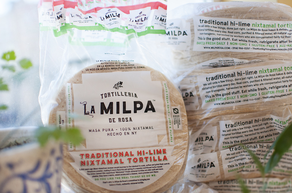 Restaurants and groceries in New York, New Jersey and Philadelphia looking for authentic nixtamal tortillas and tamale masa use Nixtamal Tortilleria La Milpa de Rosa. Our beautifully packaged tortilleria's nixtamal comes in azul, blanca, or whatever your restaurant needs. Call 914-966-0257.