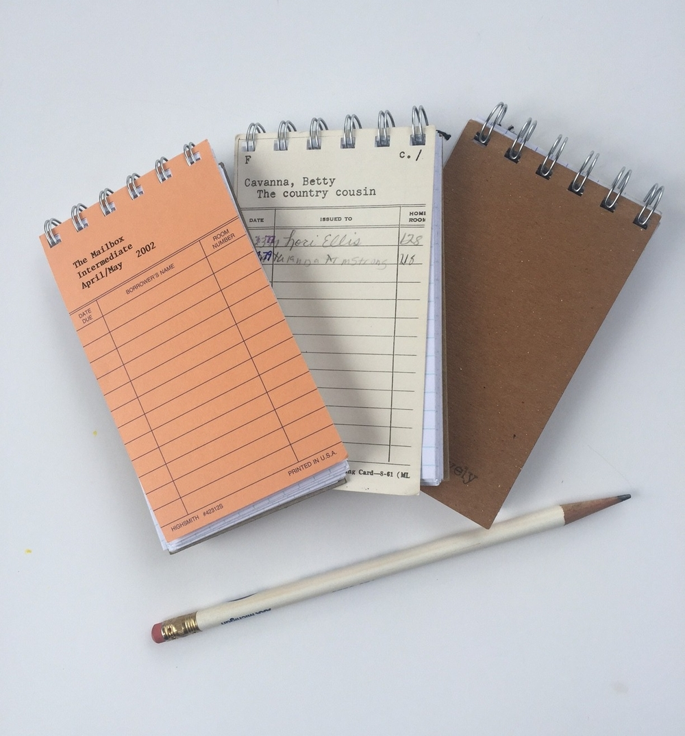 Library Card Notepads from Comfortably Lovely