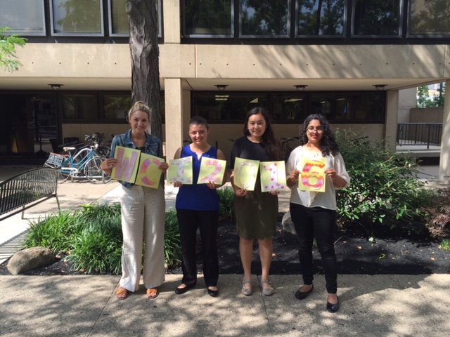 Some of WCI's Summer interns. (From left) Chloe Rasic, Christina Kuhlmeier, Carolyn Sacco, Lakshmi Shanker