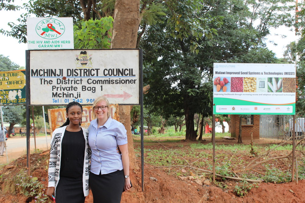 Program Manager Katy Kutzner and Chikondi Mandala, the youngest female magistrate in the court of Malawi and member of WOJAM